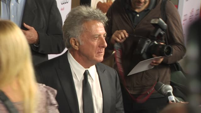 dustin hoffman at the afi fest 2010 screening of 'barney's version' at hollywood ca - dustin hoffman video stock e b–roll