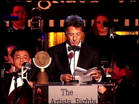 Dustin Hoffman at the Artist Rights Foundation at the Beverly Hilton in Beverly Hills California on April 17 1998