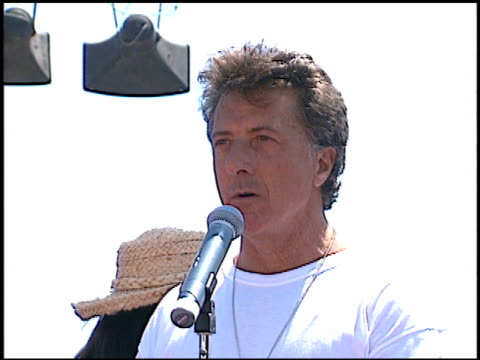 dustin hoffman at the multiple sports for ms at drake stadium in los angeles california on june 1 1996 - dustin hoffman video stock e b–roll
