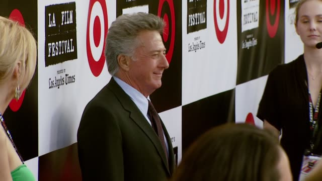 dustin hoffman at the spirit of independence award ceremony honoring clint eastwood at billy wilder theater in los angeles, california on june 28,... - independent feature project video stock e b–roll