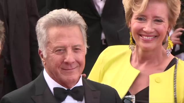 Dustin Hoffman Emma Thompson Ben Stiller and Adam Sandler walk the red carpet at the Cannes Film Festival for their film The Meyerowitz Stories a...