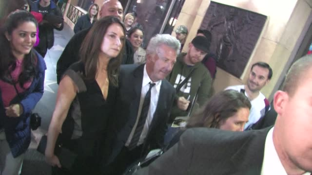 dustin hoffman lisa gottsegen arrives at luck after party in hollywood in celebrity sightings in los angeles - dustin hoffman video stock e b–roll