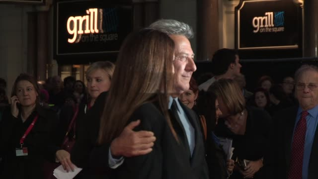 dustin hoffman lisa hoffman at quartet premiere 56th bfi london film festival at odeon west end on october 15 2012 in london england - quartet stock videos & royalty-free footage