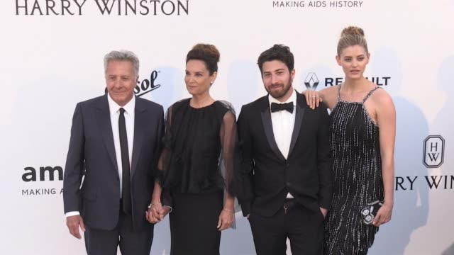 Dustin Hoffman Lisa Hoffman Jake Hoffman and more on the red carpet at the amfAR Gala during the Cannes Film Festival 2017 Thursday 25 May 2017...