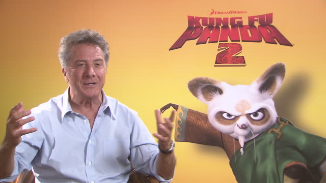 dustin hoffman on his character the similarities to him and his character at the kung fu panda 2 interviews 64th annual cannes film festival at cannes - dustin hoffman video stock e b–roll