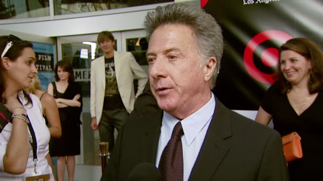 dustin hoffman on why clint eastwood deserves the award at the spirit of independence award ceremony honoring clint eastwood at billy wilder theater... - クリント・イーストウッド点の映像素材/bロール