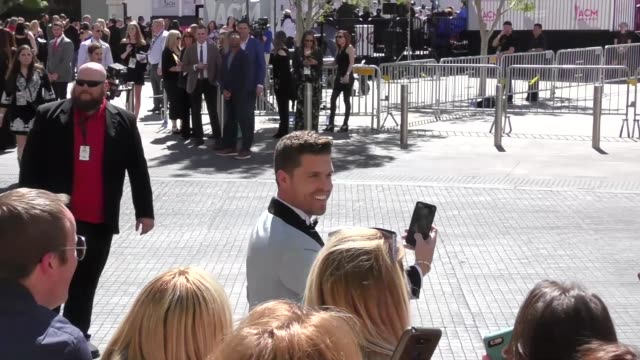 dustin lynch arriving to the 52nd academy of country music awards in celebrity sightings in las vegas - academy of country music awards stock videos & royalty-free footage