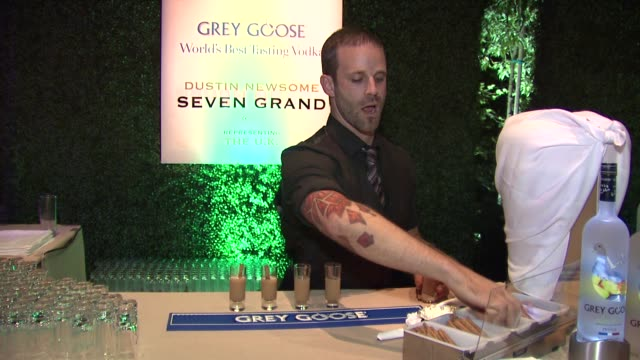 dustin newsome on what he prepared for the evening at a taste of the world presented by breeders' cup grey goose vodka on 11/2/2012 in pasadena ca - grey goose vodka stock videos & royalty-free footage