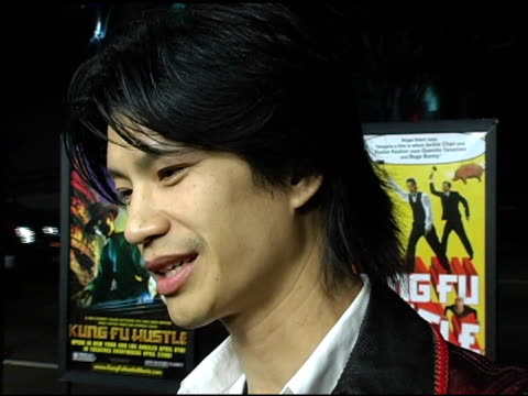 dustin nguyen at the 'kung fu hustle' los angeles premiere at arclight cinemas in hollywood california on march 29 2005 - arclight cinemas hollywood stock videos and b-roll footage