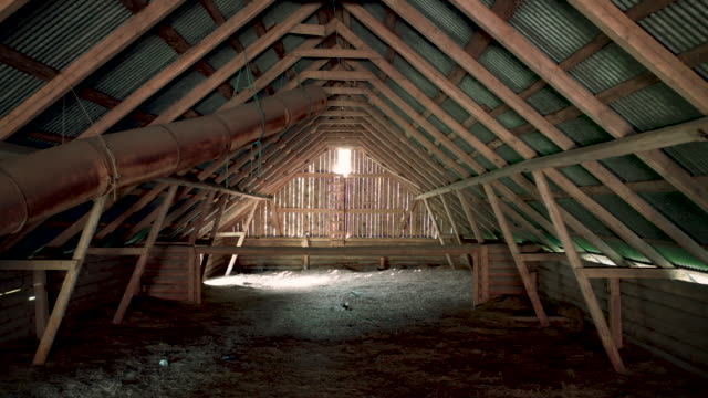 stockvideo's en b-roll-footage met dusty abandoned barn attic - boerderijschuur