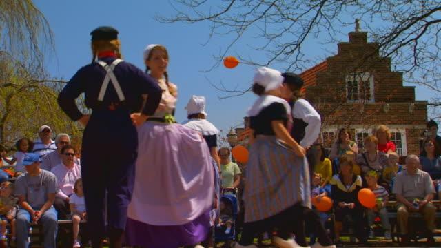Dutch Dance performance at Dutch Village handheld shot