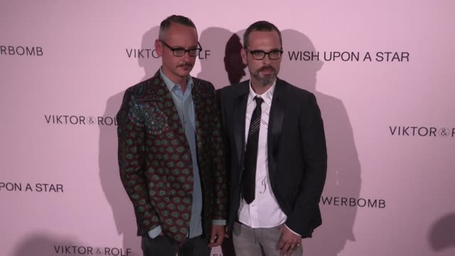 Dutch Designers Viktor Horsting and Rolf Snoeren at the Photocall of ViktorRolf After party in Paris paris france on Wednesday July 8 2015