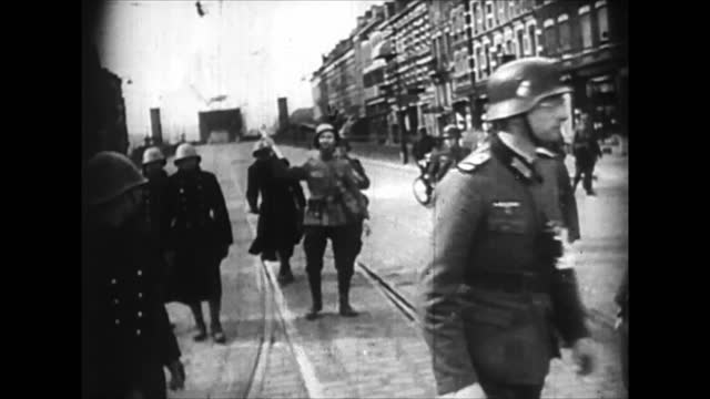 dutch generals concluding act of surrender to nazi germany - loss stock videos & royalty-free footage
