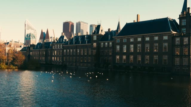dutch government building in the hague - binnenhof - binnenhof stock videos and b-roll footage