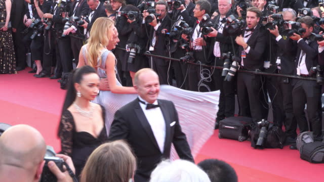 dutch model romee strijd and fawaz gruosi shine on the red carpet of 'everybody knows' - 71st international cannes film festival stock videos & royalty-free footage