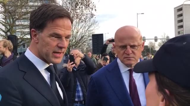 dutch prime minister mark rutte and the minister of justice and security ferdinand grapperhaus visit utrecht to lay flowers for the victims of... - utrecht stock videos & royalty-free footage