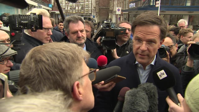 Dutch Prime Minister Mark Rutte saying that Turkish President Recep Tayyip Erdogan's comments about the Netherlands and the Srebenica massacre are...