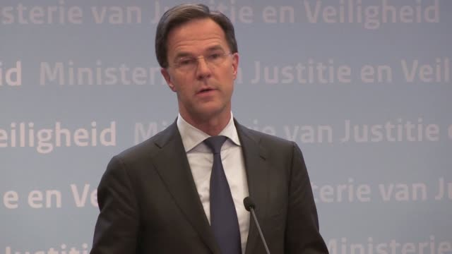 dutch prime minister mark rutte says despite the rumour surrounding a shooting on a tram in utrecht that left three people dead the motives for the... - utrecht stock videos and b-roll footage