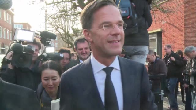 dutch prime minister mark rutte says that the population has a choice between the wrong sort of populism and politics which is really trying to solve... - populism stock videos and b-roll footage
