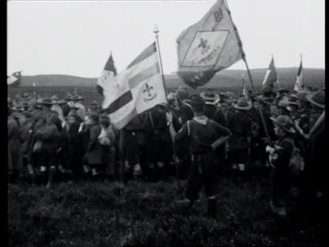dutch scouts parade for queen wilhelmina / apeldoorn netherlands - 1923 stock videos & royalty-free footage