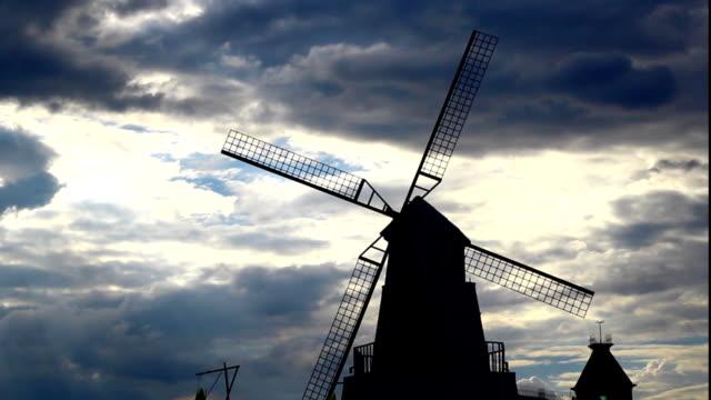 オランダの風車 - 北ホラント州点の映像素材/bロール