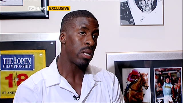dwain chambers interview darren chambers sot don't knock him sure i'd feel same if i was in his situation / he's coming down heavy on me but he's... - missed chance stock videos & royalty-free footage