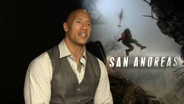 Dwayne Johnson about his relationship with his daughter and preparing his helicopter scenes at the 'San Andreas' interview