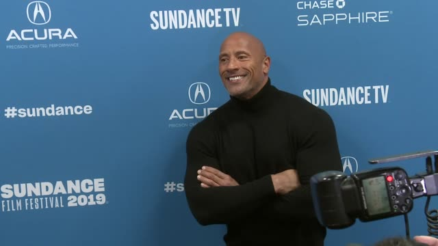 vídeos de stock, filmes e b-roll de dwayne johnson at fighting with my family sundance special screening and premiere on january 28 2019 in park city utah - festival de cinema de sundance
