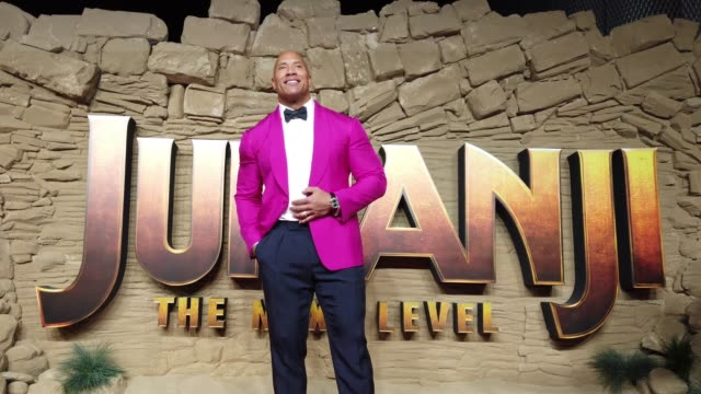 dwayne johnson attends the jumanji the next level uk film premiere at bfi southbank on december 05 2019 in london england - rock stock videos & royalty-free footage