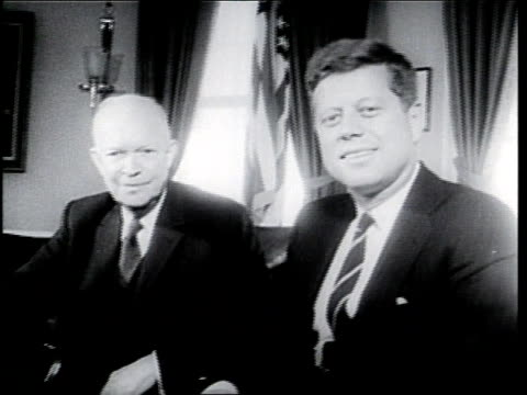 dwight d. eisenhower and john f. kennedy sit together in the white house. - 1961 stock videos & royalty-free footage