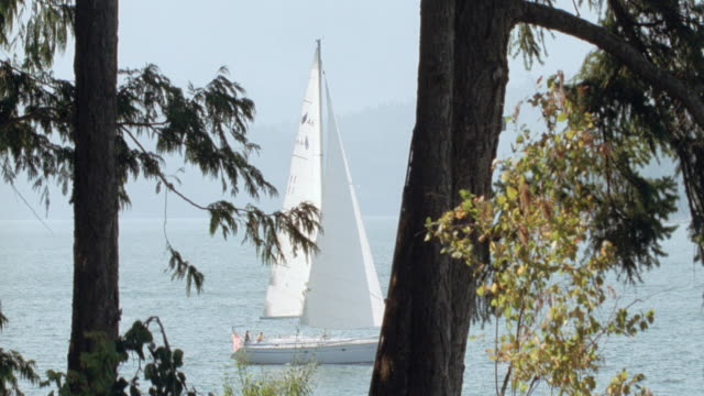 dx sailboats p o v ocean sea - sailing stock videos & royalty-free footage