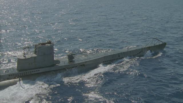d/x-aerial german wwii sub - 潜水艦点の映像素材/bロール