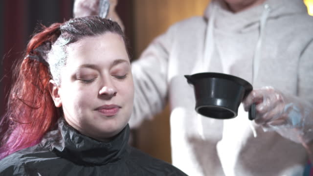 dying hair at home - other stock videos & royalty-free footage