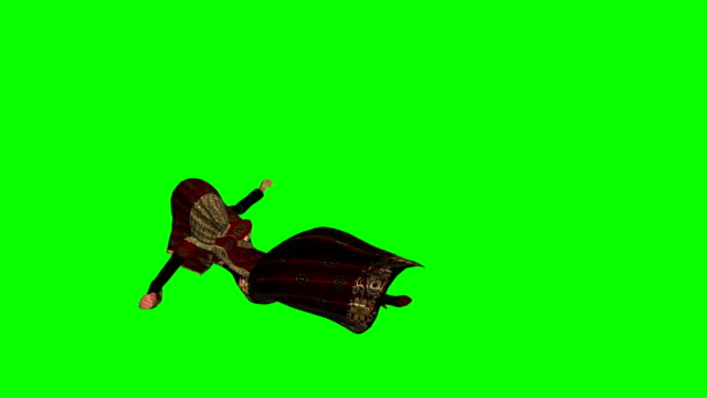 Dying Woman Green Screen