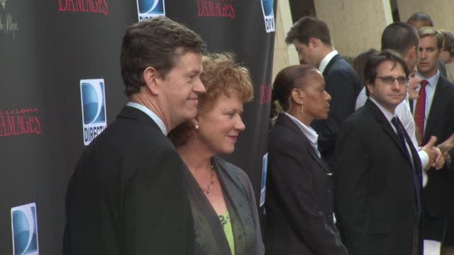 dylan baker and wife becky ann baker at the 'damages' season 4 premiere at new york ny - damages television show stock videos and b-roll footage