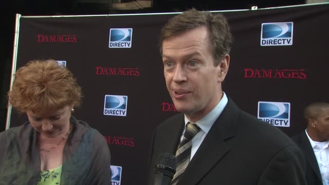 dylan baker talked about why he wanted to be a part of damages who he has the most scenes with which is john goodman how his character is introduced... - damages television show stock videos and b-roll footage