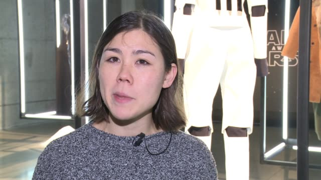 interview dylan kawahara design director discusses choosing the storm trooper as the character she was interested in it being the new female... - modern period stock videos and b-roll footage