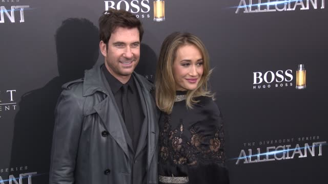 dylan mcdermott maggie q at allegiant new york premiere at amc loews lincoln square 13 theater on march 14 2016 in new york city - amc loews stock videos and b-roll footage