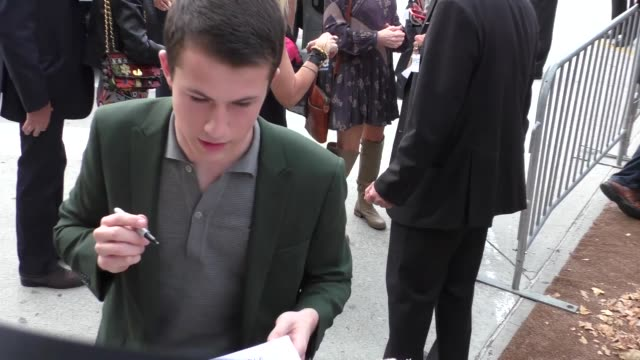 Dylan Minnette at Goosebumps Premiere at Regency Village Theatre on October 04 2015 in Los Angeles California