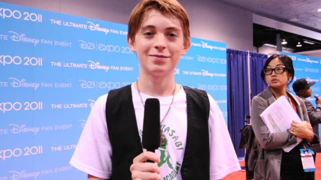 Dylan Riley Snyder on his favorite Disney memory favorite ride and being at D23 at the D23 Expo 2011 Interviews at Anaheim CA
