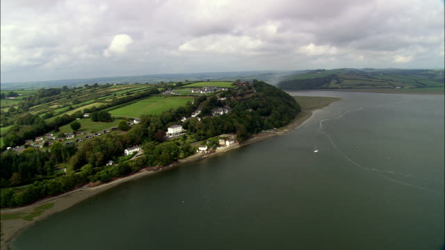 Dylan Thomas's house - Aerial View - Wales, Carmarthenshire, Laugharne Township, United Kingdom