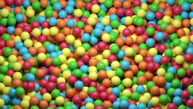 vídeos de stock e filmes b-roll de dynamic ball pool (colorful) - esfera