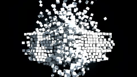 dynamic cubes explosion - cube shape stock videos & royalty-free footage