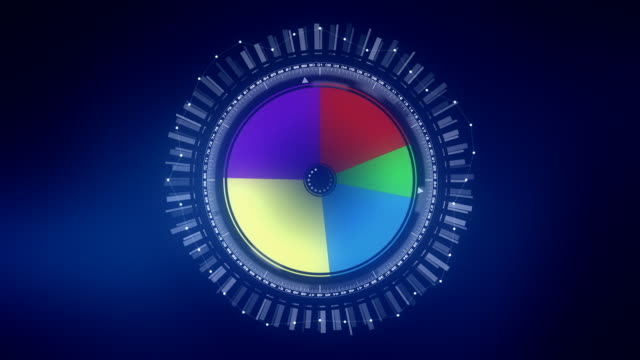 dynamic stock graph - pie chart stock videos & royalty-free footage