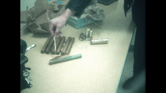 dynamite bomb confiscated by paris tennessee police department - dynamite stock videos & royalty-free footage