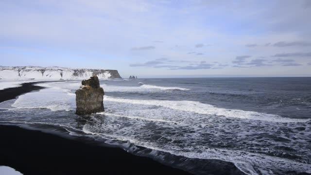 dyrholaey coast - dyrholaey stock videos & royalty-free footage