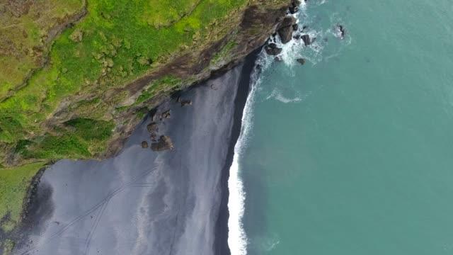 dyrholaey promontory, southern iceland - dyrholaey stock videos & royalty-free footage