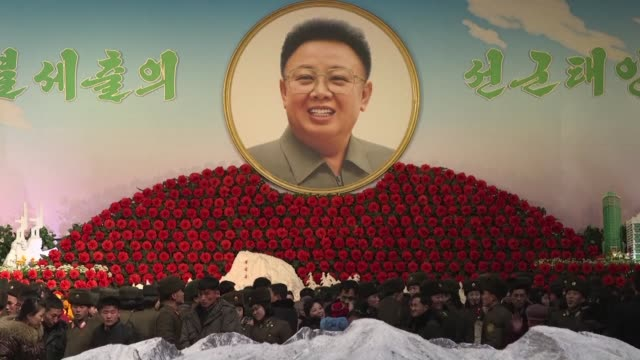 each year pyongyang celebrates the kimjongilia a flower created by a japanese botanist in honour of kim jongil kim jongun's father - botanist stock videos & royalty-free footage