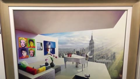 stockvideo's en b-roll-footage met each year thousands of art industry insiders flock to art expo new york in search of the art and artists that will shape trends in galleries... - litho