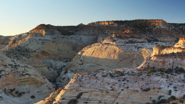 eagle canyon, utah - aerial shot - san rafael swell stock videos and b-roll footage